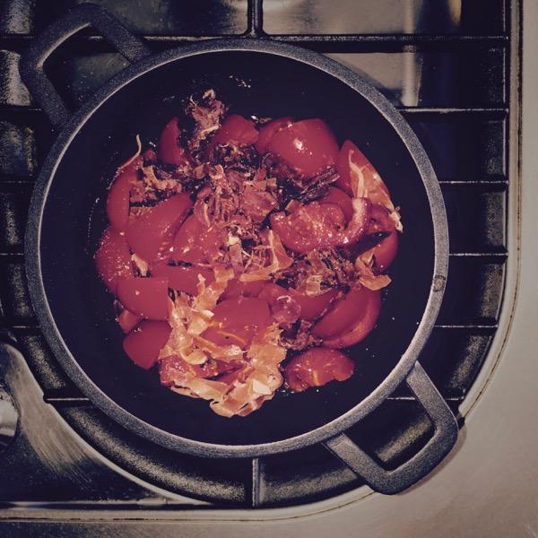 Spaghetti Al Pomodoro E Prosciutto Crudo 2 by Jens Haas